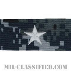 准将 (下級少将)(Rear Admiral Lower Half (RDML))[NWU Type1/襟用階級章/生地テープパッチ/ペア(2枚1組)]の画像