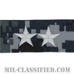 少将 (上級少将)(Rear Admiral Upper Half (RADM))[NWU Type1/襟用階級章/生地テープパッチ/ペア(2枚1組)]の画像
