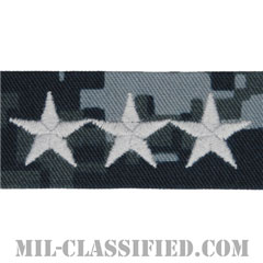 中将(Vice Admiral (VADM))[NWU Type1/襟用階級章/生地テープパッチ/ペア(2枚1組)]の画像