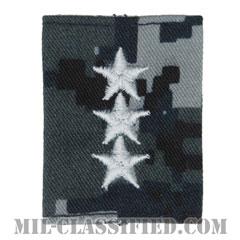 中将(Vice Admiral (VADM))[NWU Type1/ゴアテックスパーカー用スライドオン階級章]の画像