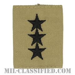 中将(Lieutenant General (LTG))[デザート/ゴアテックスパーカー用スライドオン階級章]の画像