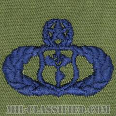 気象章 (マスター)(Meteorologist Badge, Master)[サブデュード/ブルー刺繍/パッチ]の画像