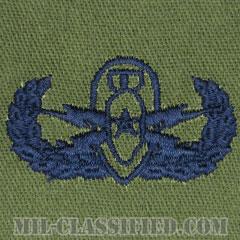 爆破物処理章 (シニア)(Explosive Ordnance Disposal (EOD), Badge, Senior)[サブデュード/ブルー刺繍/パッチ]の画像