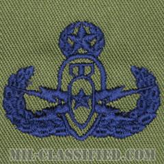爆破物処理章 (マスター)(Explosive Ordnance Disposal (EOD), Badge, Master)[サブデュード/ブルー刺繍/パッチ]の画像