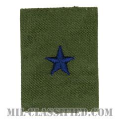 准将(Brigadier General (BG))[サブデュード(Subdued)/ゴアテックスパーカー用スライドオン空軍階級章]の画像