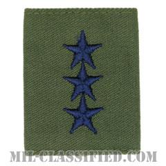 中将(Lieutenant General (LTG))[サブデュード(Subdued)/ゴアテックスパーカー用スライドオン空軍階級章]の画像