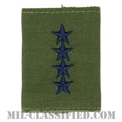 大将(General (GEN))[サブデュード(Subdued)/ゴアテックスパーカー用スライドオン空軍階級章]の画像