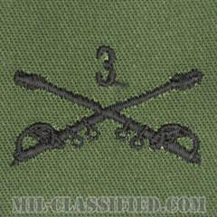 第3騎兵連隊騎兵科章(3rd Cavalry Regiment, Cavalry Branch Insignia)[サブデュード/兵科章/パッチ/ペア(2枚1組)]の画像