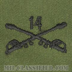 第14騎兵連隊騎兵科章(14th Cavalry Regiment, Cavalry Branch Insignia)[サブデュード/兵科章/パッチ/ペア(2枚1組)]の画像