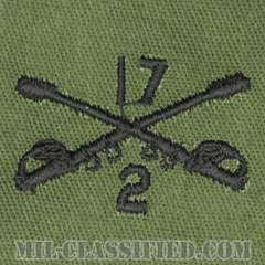 第17騎兵連隊第2大隊騎兵科章(2nd Battalion, 17th Cavalry Regiment, Cavalry Branch)[サブデュード/兵科章/パッチ/ペア(2枚1組)]の画像