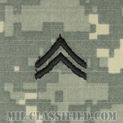 伍長(Corporal (CPL))[UCP(ACU)/階級章/キャップ用縫い付けパッチ]の画像