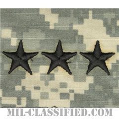 中将(Lieutenant General (LTG))[UCP(ACU)/階級章/キャップ用縫い付けパッチ]の画像