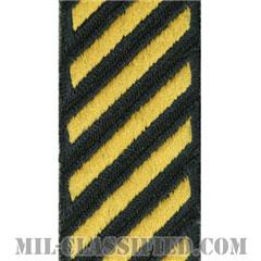 年功章(Service Stripe)[カラー(グリーン)/カットエッジ/女性用(1996-)/パッチ]の画像