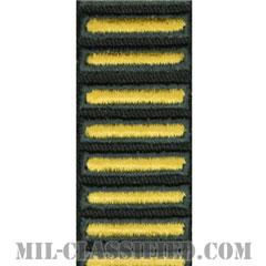 海外勤務(派遣)章(Overseas Service Bar)[カラー(グリーン)/カットエッジ/女性用(-1996)/パッチ]の画像