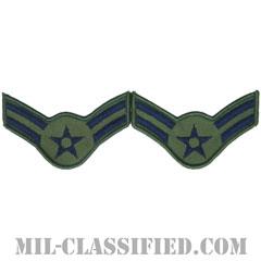 一等空兵(Airman First Class)[サブデュード/メロウエッジ/空軍階級章(1991-)/Large(男性用)/パッチ/ペア(2枚1組)]の画像
