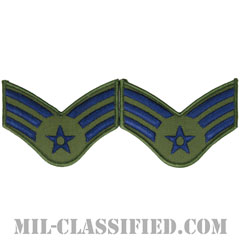上等空兵(Senior Airman)[サブデュード/メロウエッジ/空軍階級章(1991-)/Large(男性用)/パッチ/ペア(2枚1組)]の画像