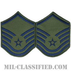 曹長(Master Sergeant)[サブデュード/メロウエッジ/空軍階級章(1991-)/Large(男性用)/パッチ/ペア(2枚1組)]の画像