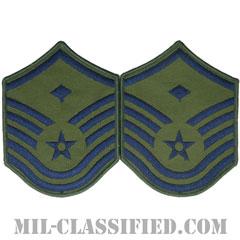 先任曹長(First Sergeant (E-7))[サブデュード/メロウエッジ/空軍階級章(1991-)/Large(男性用)/パッチ/ペア(2枚1組)]の画像