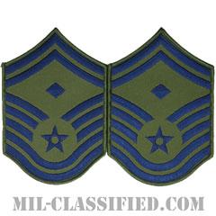 先任上級曹長(First Sergeant (E-8))[サブデュード/メロウエッジ/空軍階級章(1991-)/Large(男性用)/パッチ/ペア(2枚1組)]の画像