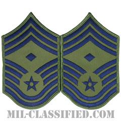 先任最上級曹長(First Sergeant (E-9))[サブデュード/メロウエッジ/空軍階級章(1991-)/Large(男性用)/パッチ/ペア(2枚1組)]の画像