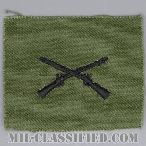 歩兵科章(Infantry Branch Insignia)[サブデュード/兵科章/1960s/コットン100%/パッチ]の画像