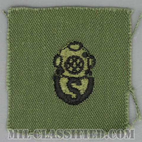 回収潜水員章(Diver Badge, Salvage)[サブデュード/1960s/コットン100%/パッチ]の画像