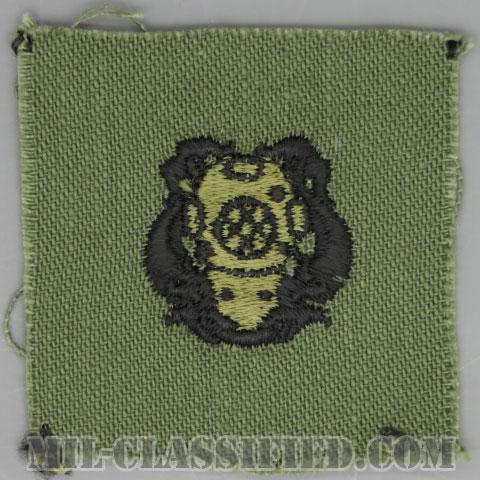 潜水員章 (1級)(Diver Badge, First Class)[サブデュード/1960s/コットン100%/パッチ]の画像