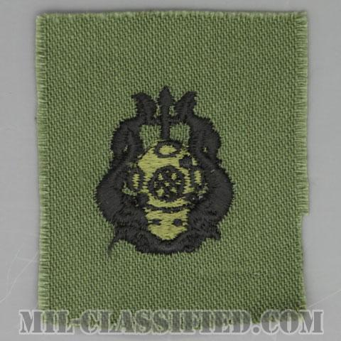潜水員章 (最上級)(Diver Badge, Master)[サブデュード/1960s/コットン100%/パッチ]の画像