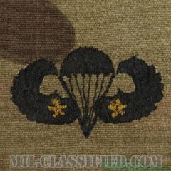 戦闘空挺章 (ベーシック) 降下2回(Combat Parachutist Badge, Basic, Two Jump)[OCP/パッチ]の画像