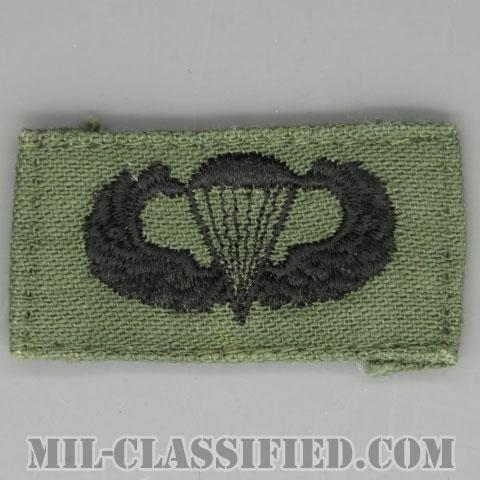 空挺章 (ベーシック)(Parachutist Badge, Basic)[サブデュード/1960s/コットン100%/パッチ/中古1点物]の画像