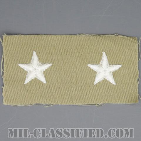 准将(Brigadier General (BG))[カラー/カーキ生地/階級章/ペア(2枚1組)]の画像