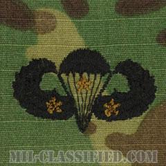 戦闘空挺章 (ベーシック) 降下3回(Combat Parachutist Badge, Basic, Three Jump)[OCP/パッチ]の画像