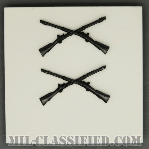 歩兵科章(Infantry Branch Insignia)[サブデュード/兵科章/1969年ロット/バッジ/ペア(2個1組)]の画像