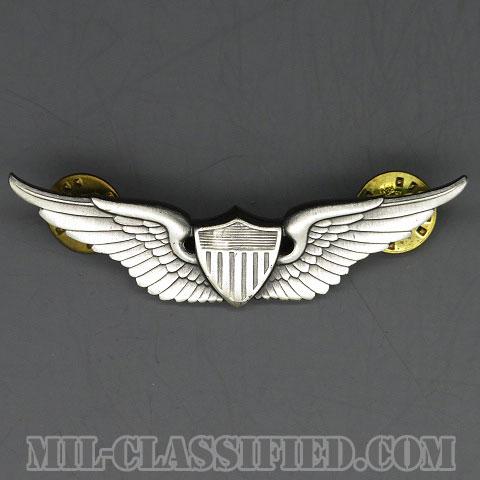 飛行士章 (ベーシック・パイロット)(Aviator (Pilot), Basic)[カラー/1960s/燻し銀(銀張り・Silver Filled)/バッジ/中古1点物]の画像