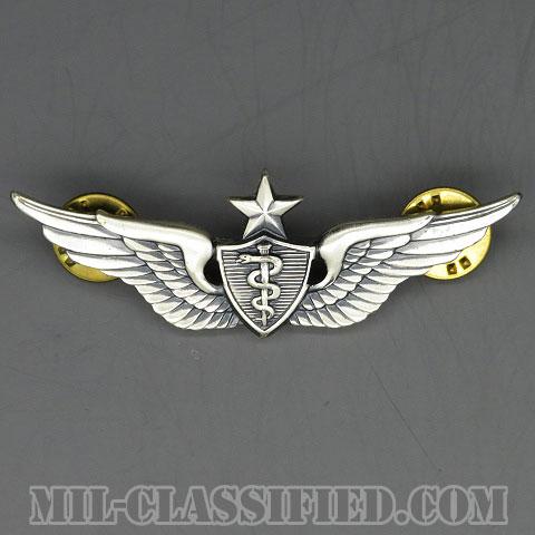 飛行医師章 (シニア)(Flight Surgeon, Senior)[カラー/1950s/燻し銀(純銀・STERLING)/バッジ/中古1点物]の画像