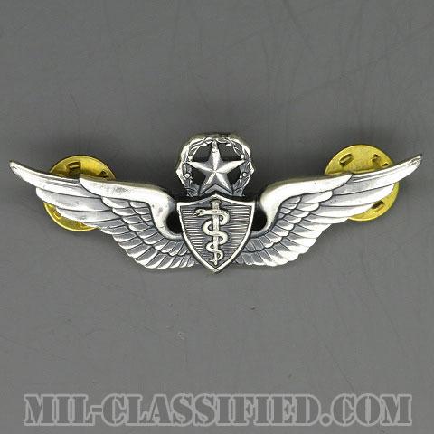 飛行医師章 (マスター)(Flight Surgeon, Master)[カラー/1950s/燻し銀(純銀・STERLING)/バッジ/中古1点物]の画像