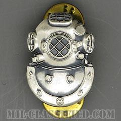 潜水員章 (2級)(Diver Badge, Second Class)[カラー/1960s/燻し銀(銀張り・Silver Filled)/バッジ/中古1点物]の画像