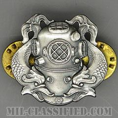 潜水員章 (1級)(Diver Badge, First Class)[カラー/1960s/燻し銀(銀張り・Silver Filled)/バッジ/中古1点物]の画像