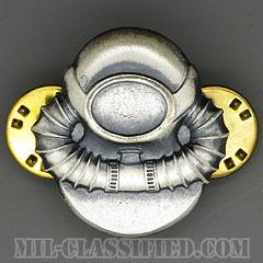 スキューバ員章(Diver Badge, Scuba)[カラー/1960s/燻し銀(銀張り・Silver Filled)/バッジ/中古1点物]の画像