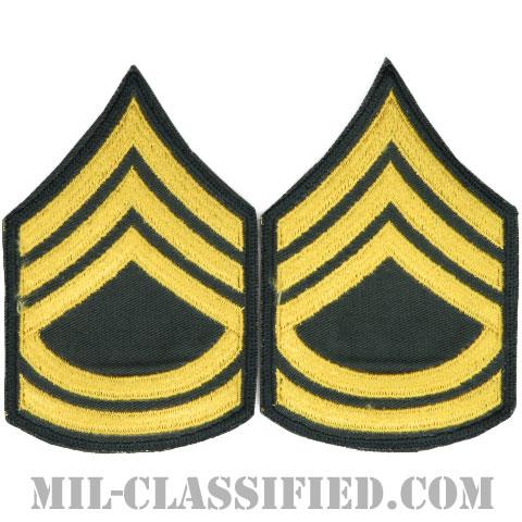 一等軍曹(Sergeant First Class (SFC))[カラー/カットエッジ/階級章(1959-)/パッチ/ペア(2枚1組)]の画像