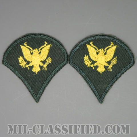 特技兵 (SP4)(Specialist 4)[カラー/カットエッジ/階級章(1959-)/パッチ/中古1点物(ペア2枚1組)]の画像