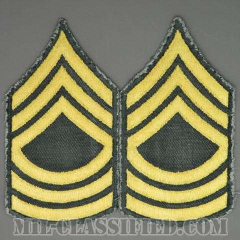 曹長(Master Sergeant (MSG))[カラー/カットエッジ/階級章(1959-)/パッチ/中古1点物(ペア2枚1組)]の画像