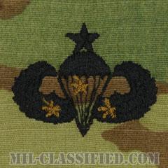 戦闘空挺章 (シニア) 降下3回(Combat Parachutist Badge, Senior, Three Jump)[OCP/パッチ]の画像