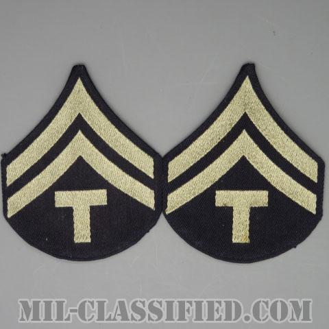 技術軍曹 (T/5)(Technician 5th Grade)[機械織りタイプ/階級章(1942-1948)/パッチ/ペア(2枚1組)/1点物]の画像