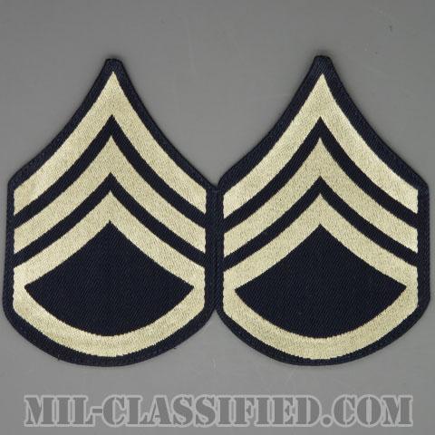 二等軍曹(Staff Sergeant (SSG))[機械織りタイプ/階級章(1942-1948)/パッチ/ペア(2枚1組)/1点物]の画像