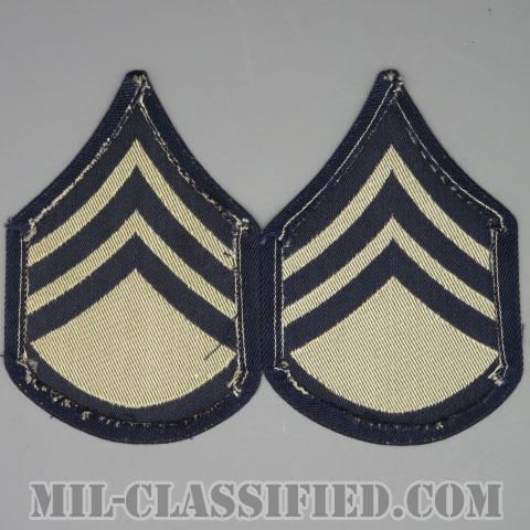 二等軍曹(Staff Sergeant (SSG))[機械織りタイプ/階級章(1942-1948)/パッチ/ペア(2枚1組)/1点物]