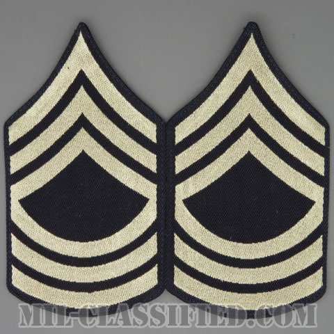 曹長(Master Sergeant (MSG))[機械織りタイプ/階級章(1942-1948)/パッチ/ペア(2枚1組)/1点物]の画像