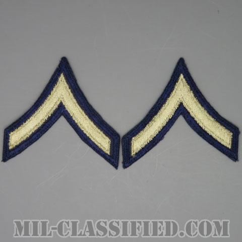 一等兵(Private First Class (PFC))[ツイル生地刺繍タイプ/階級章(1942-1948)/パッチ/ペア(2枚1組)/1点物]の画像