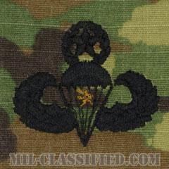 戦闘空挺章 (マスター) 降下1回(Combat Parachutist Badge, Master, One Jump)[OCP/パッチ]の画像