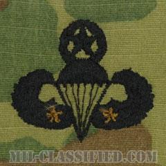 戦闘空挺章 (マスター) 降下2回(Combat Parachutist Badge, Master, Two Jump)[OCP/パッチ]の画像